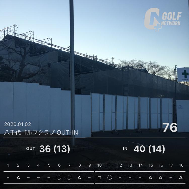 【ラウンド速報】2020R1 八千代ゴルフクラブ
